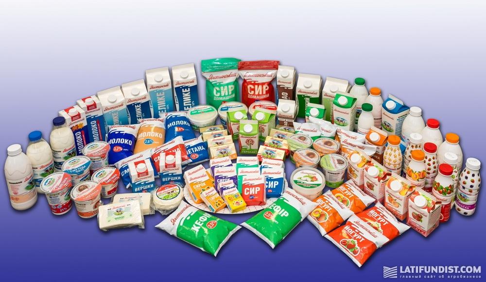 Продукция Яготинского маслозавода. Фото: PR-служба ГК «Молочный альянс»