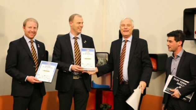 Слева направо: Франсуа Дуаси, Матиас Ховнерт и Кристер Старк, Väderstad