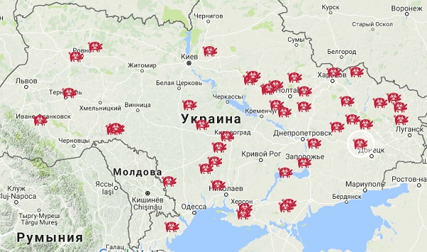 Карта АЧС 2017