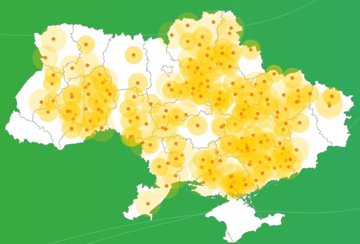 Карта покрытия «Метео Фарм»