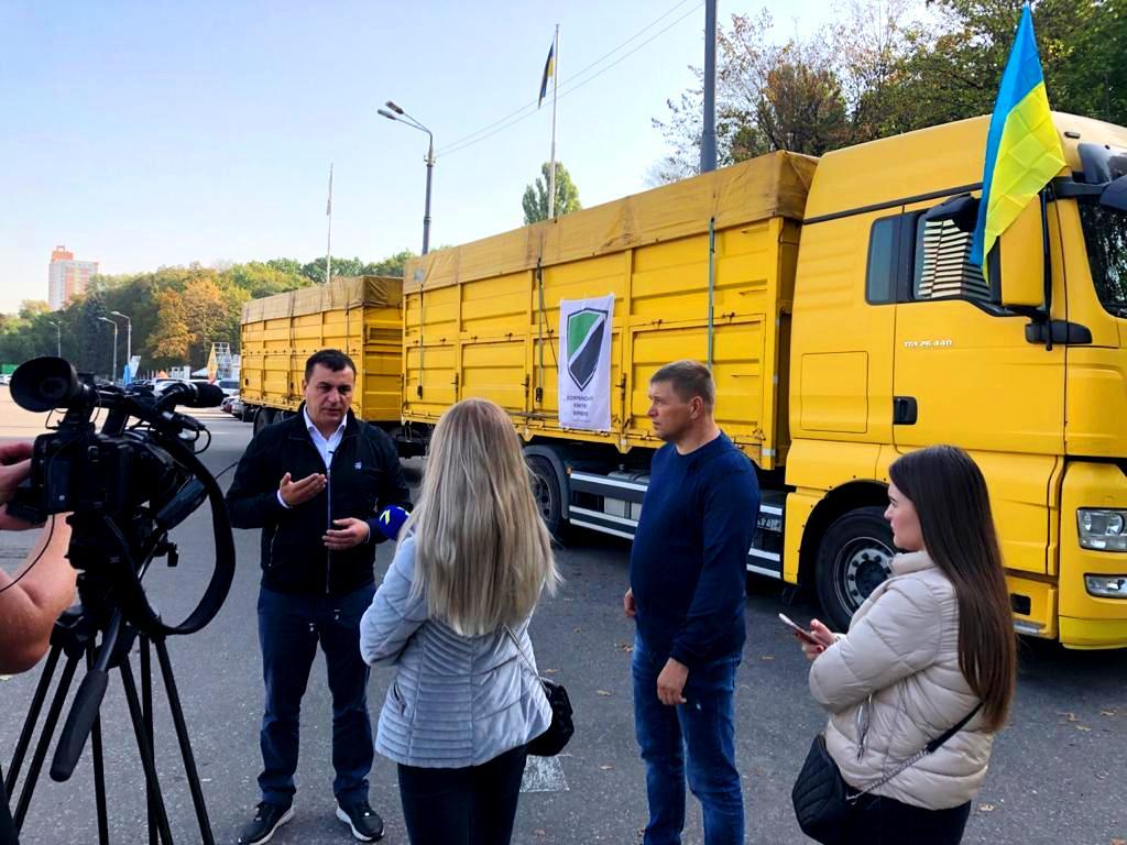 Всеукраинский конгресс фермеров отправил первый зерновоз с помощью аграриям Бессарабии, пострадавшим от засухи