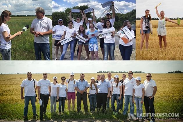 Наша дружная команда покоряет пшеничные поля