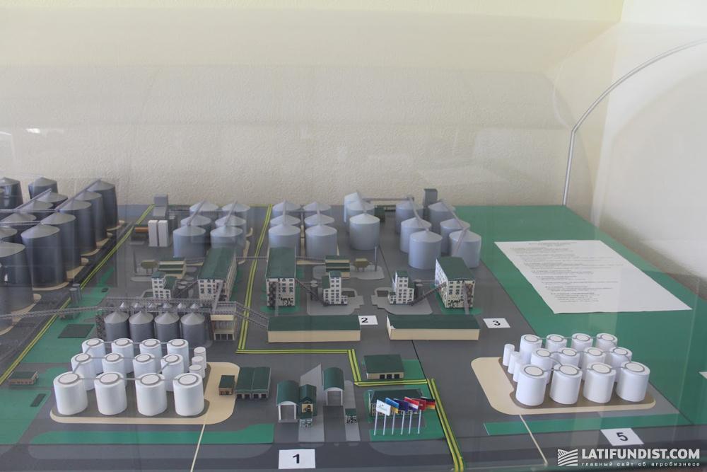 Макет маслоэкстракционного комплекса завода Allseeds и комплекса по перевалке 2012-2021 гг.