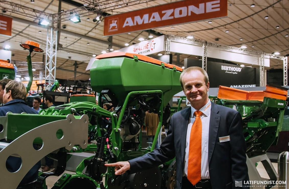 Йенс Майснер, менеджер по экспорту Йенс Майснер, менеджер по экспорту компании Amazone