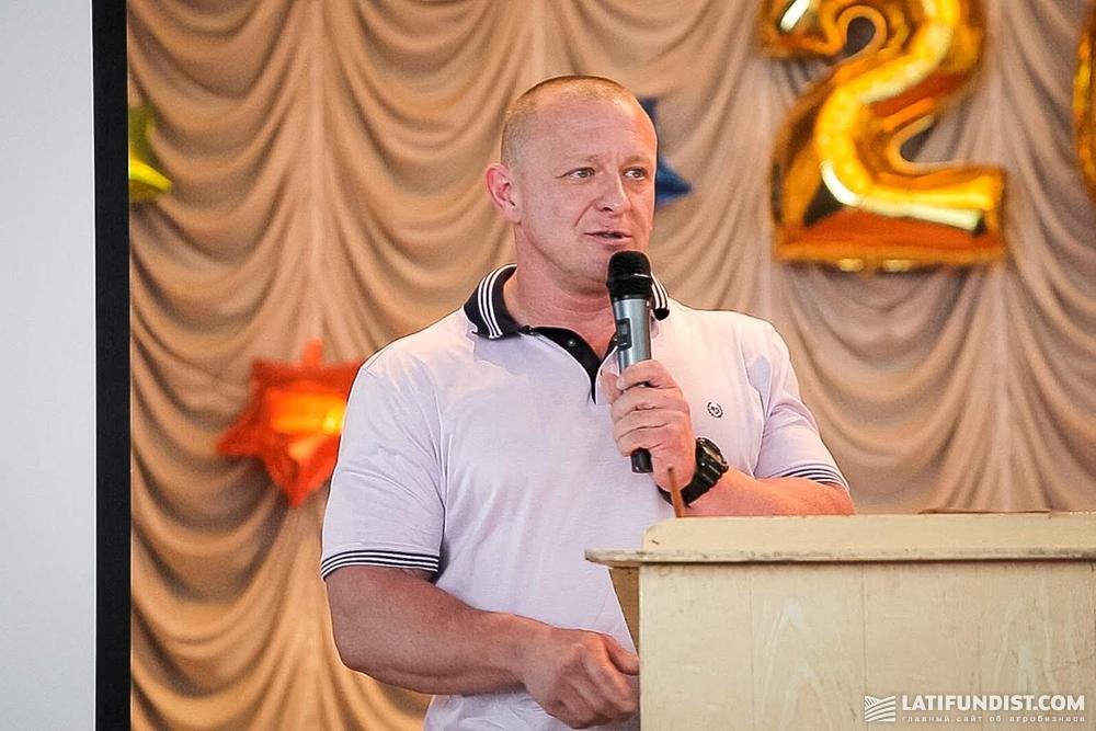 Igor Leshchenko, the executive director of the Vinnytsia Poultry Factory