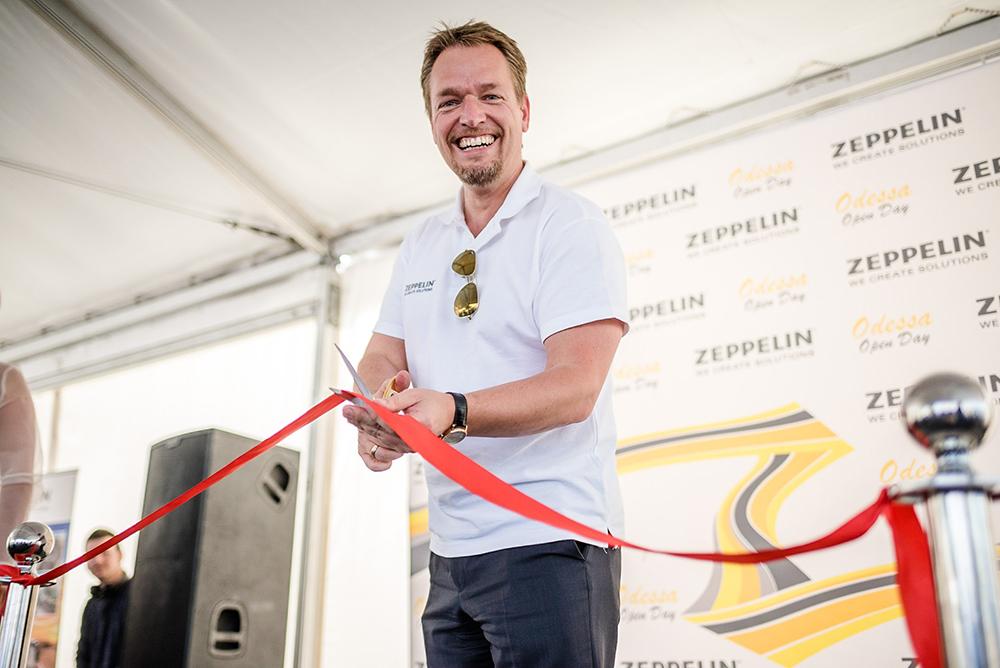 Хайко Крайзель, генеральный директор «Цеппелин Украина», официально открыл новый офис