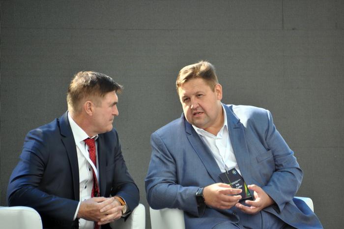 Виктор Шеремета, заместитель министра аграрной политики и продовольствия Украины и Игорь Гундич, председатель Житомирской облгосадминистрации