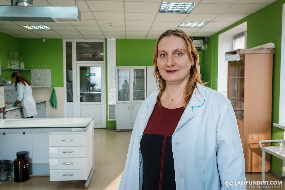 Ольга Быкова, начальник лаборатории