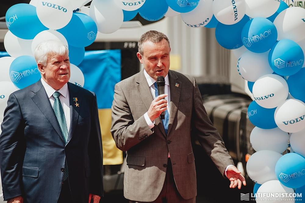 Генеральный директор компании «НИБУЛОН» Алексей Вадатурский и Посол Бельгии в Украине Люк Якобс