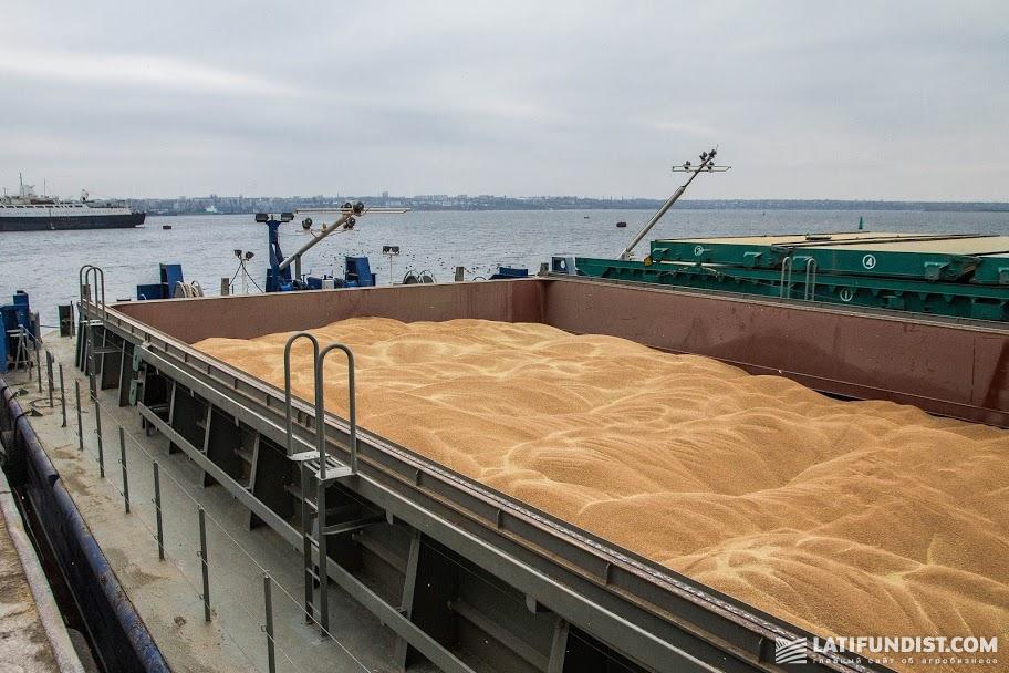 Зерно на судне