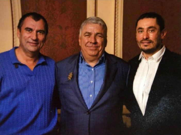 Слева направо: Николай Кучеренко, Василий Калашник, Иван Лефи