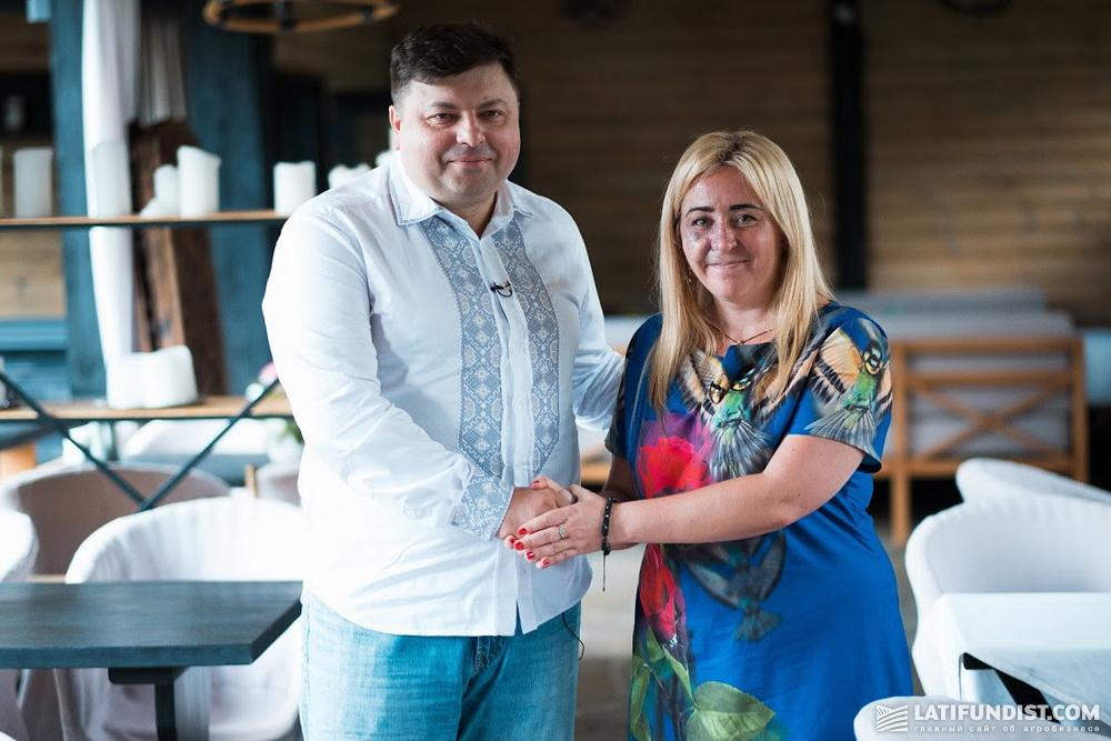 Иван Мирошниченко и Наталья Билоусова на съемках проекта «Без Грима»