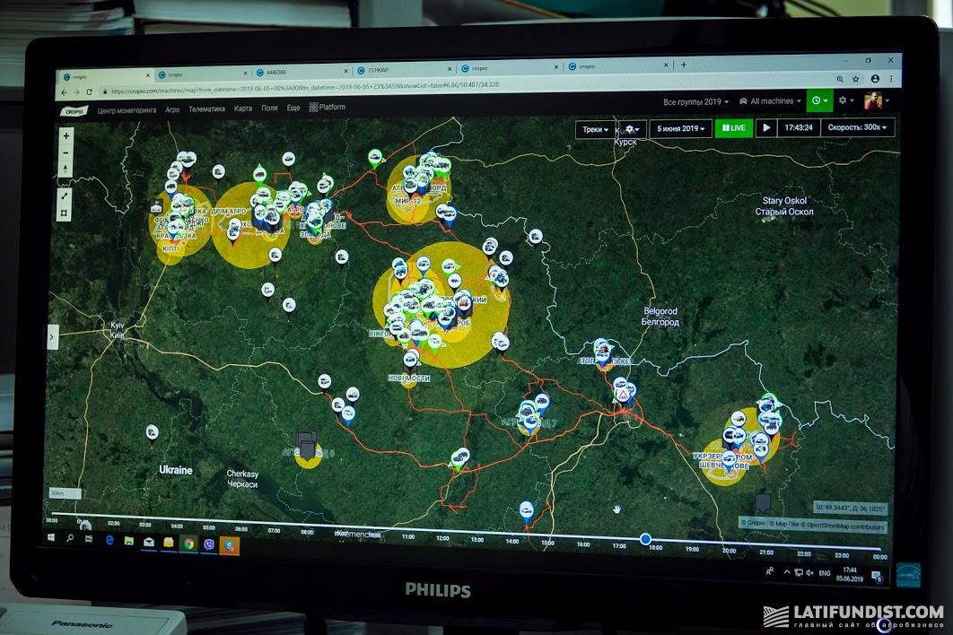 Благодаря GPS-трекерам можно увидеть местоположение каждой машины