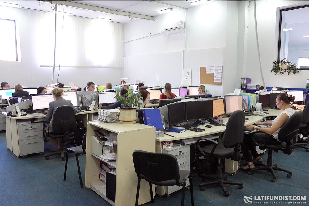 В офисе компании «АГРОТРЕЙД»