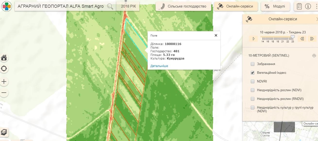 Спутниковый снимок Smart Field от 10 июня