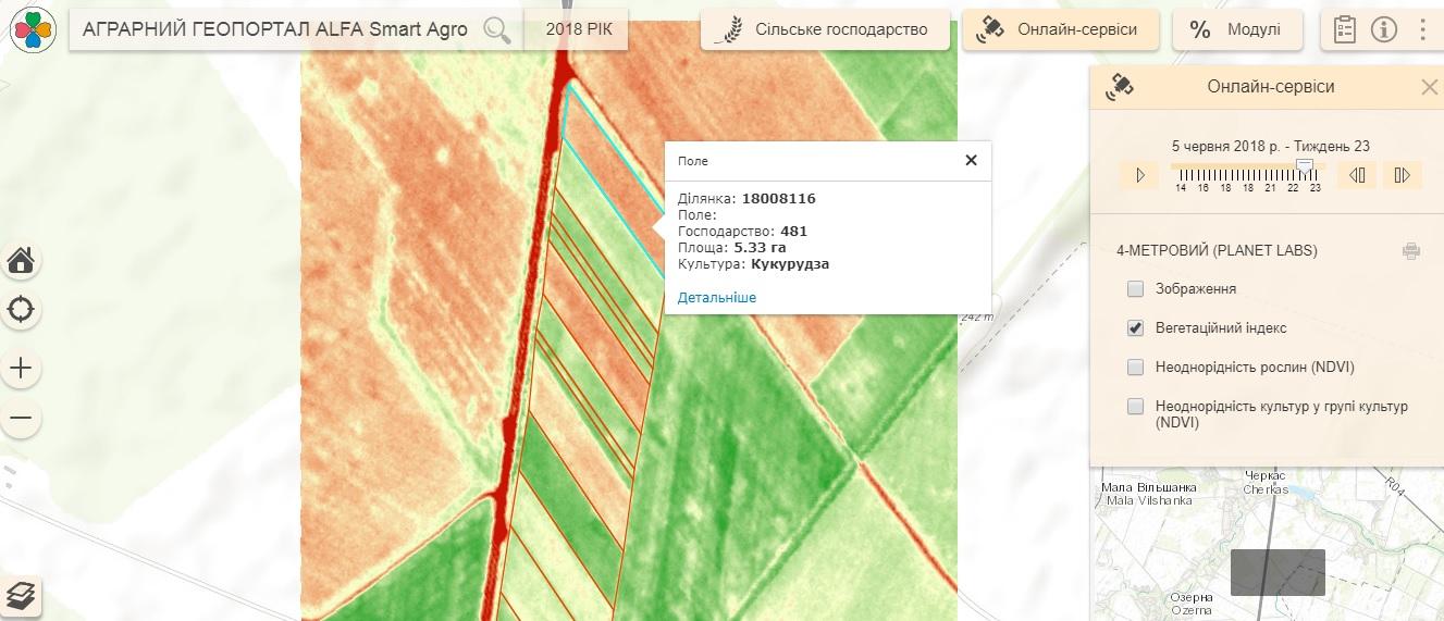 Спутниковый снимок Smart Field от 5 июня