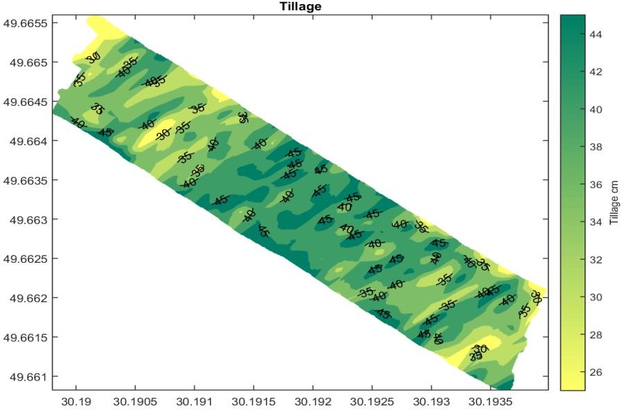Рекомендации для участка № 2: проводить вспашку на глубину от 26 см