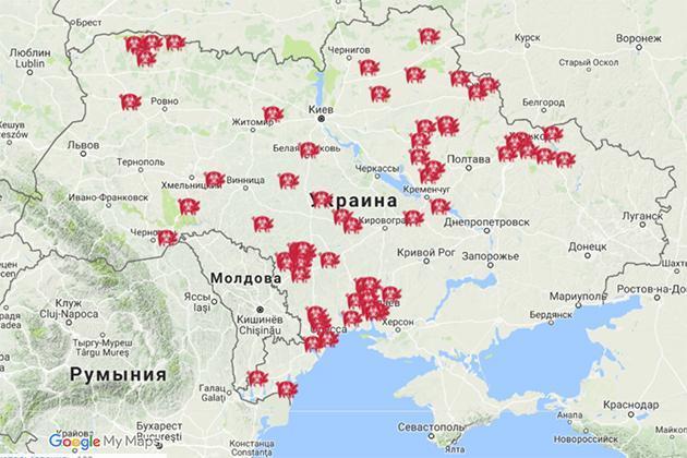 Карта АЧС в Украине