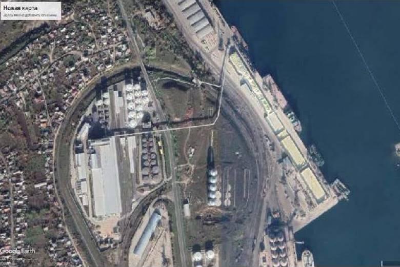 «Ильичевский зерновой порт» на карте Google maps