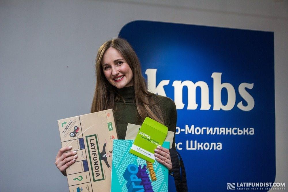 Виктория Боднар — победительница LATIFUNDIA Business Game за четвертым столом