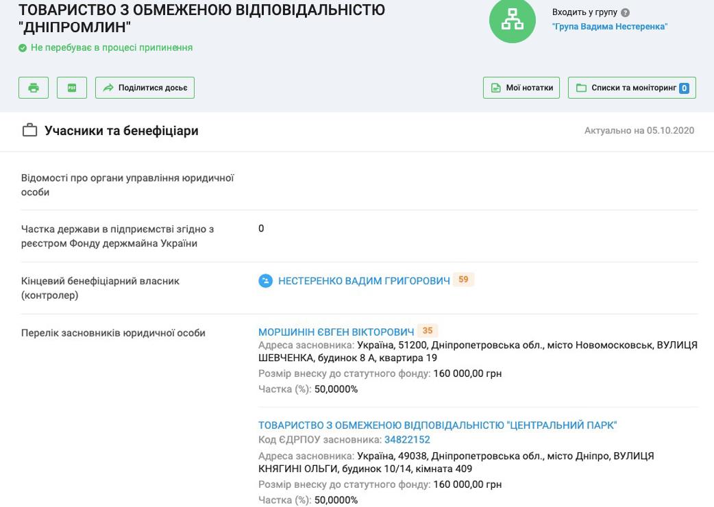 Информация о компании «Днепромлын»