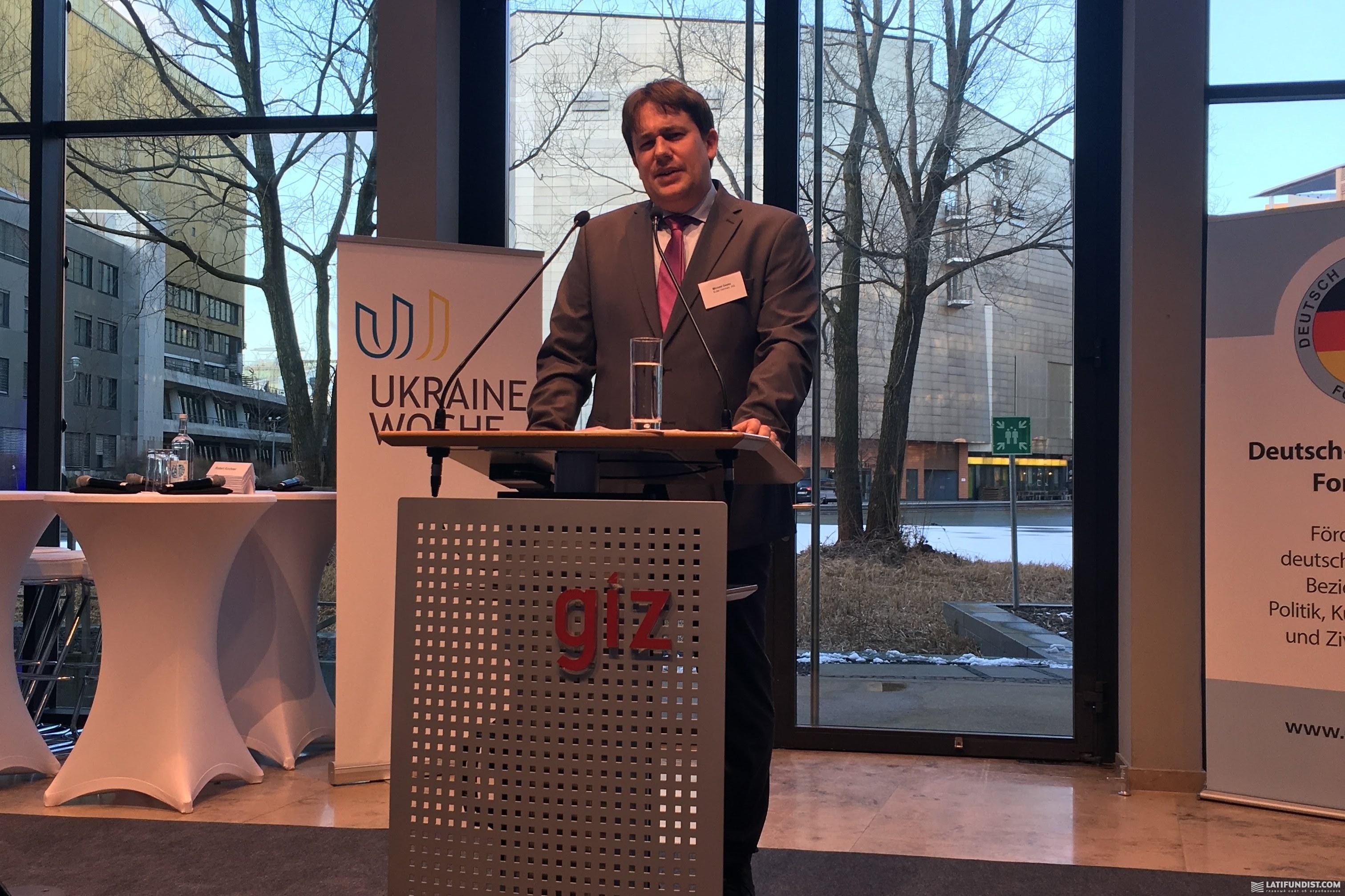 Майкл Геске, представитель компании кредитного страхования Euler Hermes