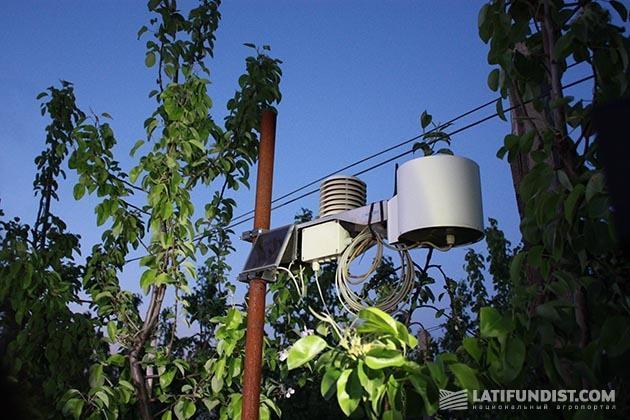 Метеостанция в селе Сербичаны
