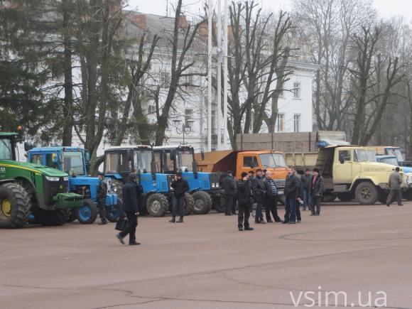Сельхозтехника на площади Независимости Хмельницкого