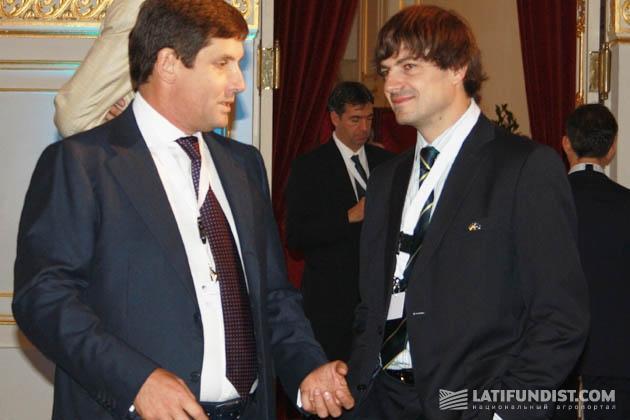 Слева-направо: Александр Петров и Сергей Евланчик