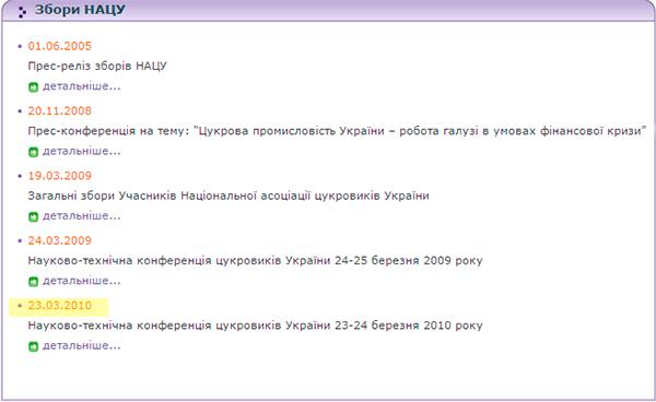 Собрания членов Национальной ассоциации сахаропроизводителей Украины
