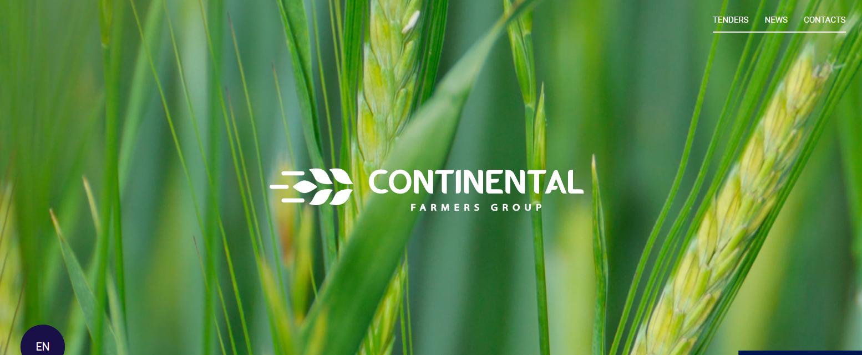 Скриншот сайта Continental Farmers Group